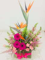 Table Arrangement with Bird of Paradise