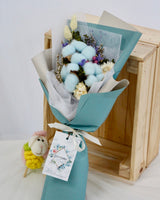 Cotton Flower - Blue Bubbles | Free Flower Delivery | V Florist SG
