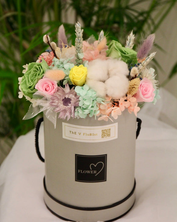 Preserved Rose and hydrangea flower Box | Same Day Delivery Available‎ | V Florist SG
