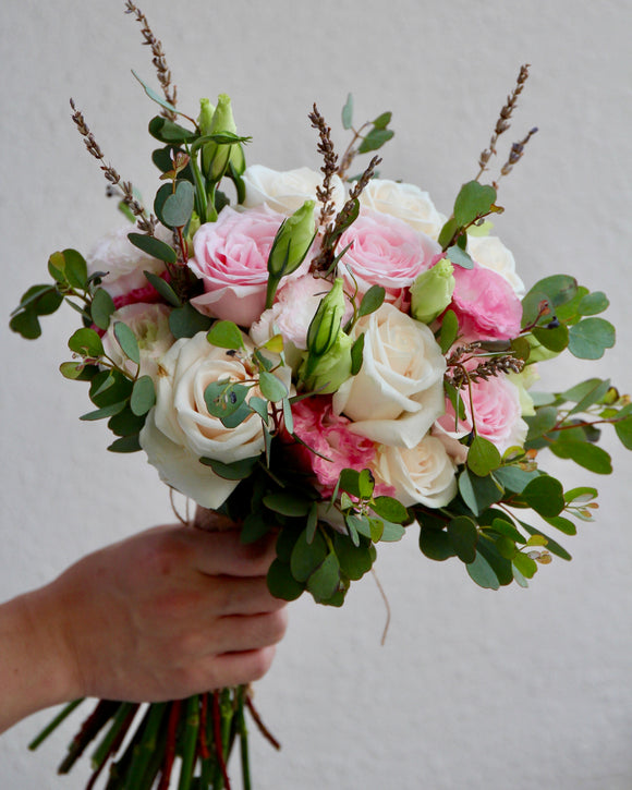 Pastel Rose Bridal Bouquet | Free Flower Delivery | V Florist SG