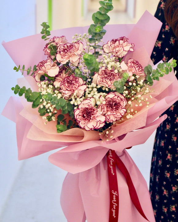 Carnations Flower Bouquet | Free Flower Delivery | V Florist SG