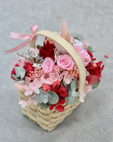 The Flower Basket - Preserved Roses and Hydrangeas