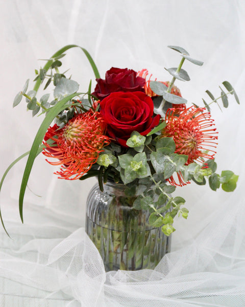 Table Arrangement with Protea