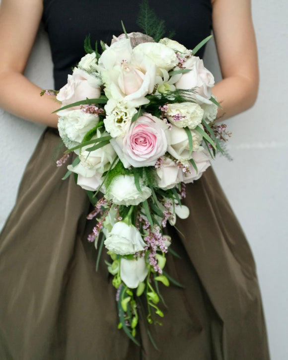 Waterfall bridal bouquet