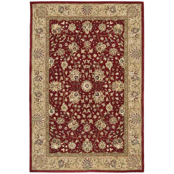 2107 Burgundy-Traditional-Area Rugs Weaver