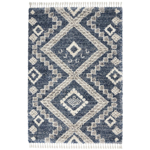 OSL02 Blue-Shag-Area Rugs Weaver