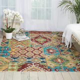 AR018 Orange-Patchwork-Area Rugs Weaver