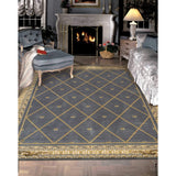 AS03 Blue-Traditional-Area Rugs Weaver