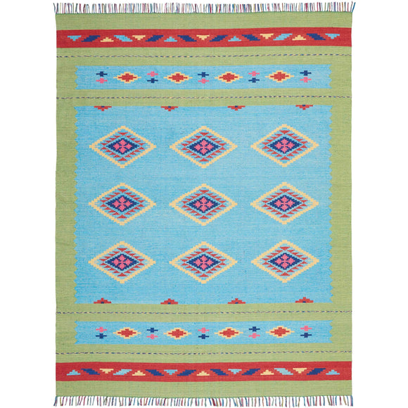 BAJ02 Blue-Modern-Area Rugs Weaver