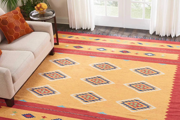 BAJ02 Orange-Modern-Area Rugs Weaver