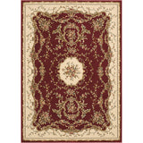 BOR01 Burgundy-Traditional-Area Rugs Weaver