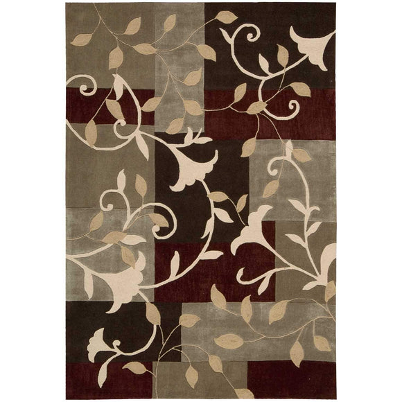 CON01 Brown-Patchwork-Area Rugs Weaver