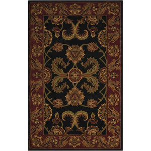 IH04 Black-Traditional-Area Rugs Weaver