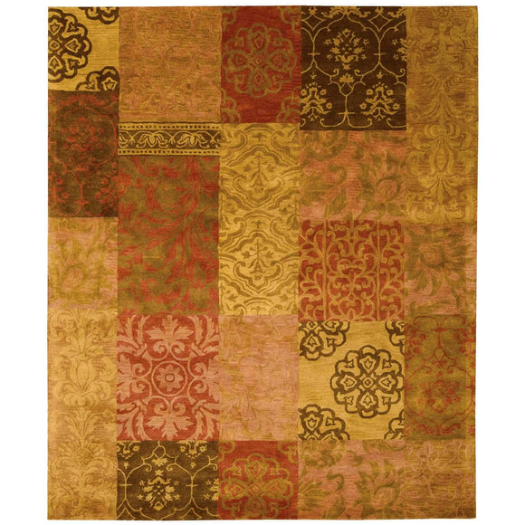 JA42 Multi-Patchwork-Area Rugs Weaver