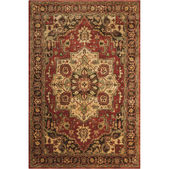 JA36 Red-Traditional-Area Rugs Weaver