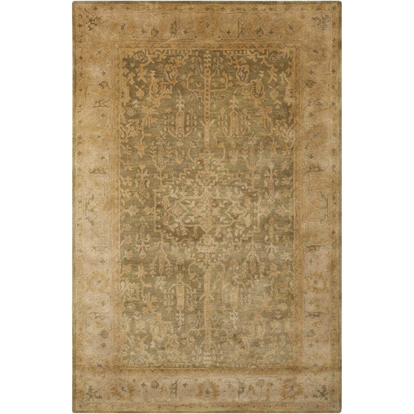 JA44 Green-Vintage-Area Rugs Weaver