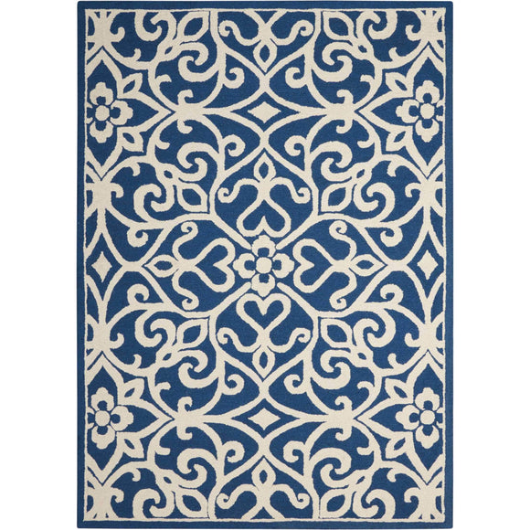 LIN19 Navy-Transitional-Area Rugs Weaver