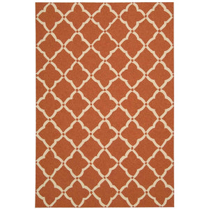 POR01 Orange-Outdoor-Area Rugs Weaver