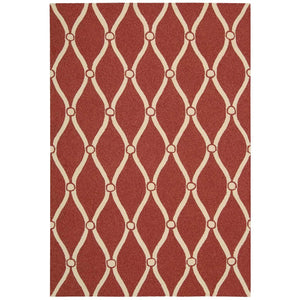 POR02 Red-Outdoor-Area Rugs Weaver