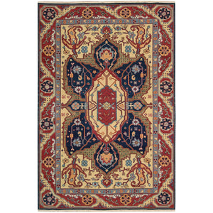 S163 Navy-Traditional-Area Rugs Weaver