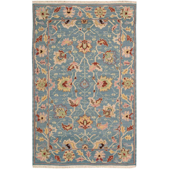 S172 Blue-Traditional-Area Rugs Weaver