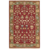 SK92 Burgundy-Traditional-Area Rugs Weaver
