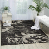 SOH05 Black-Casual-Area Rugs Weaver