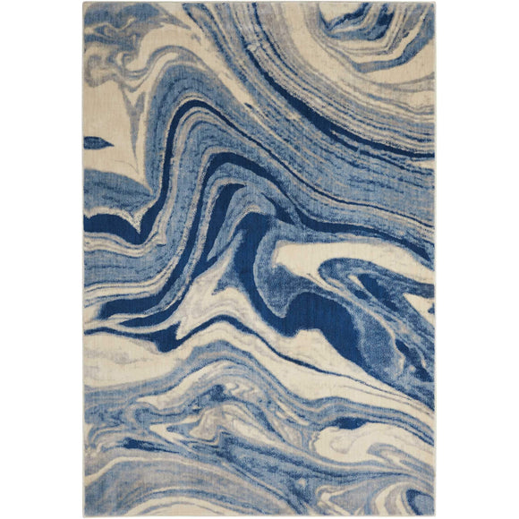ST749 Blue-Modern-Area Rugs Weaver