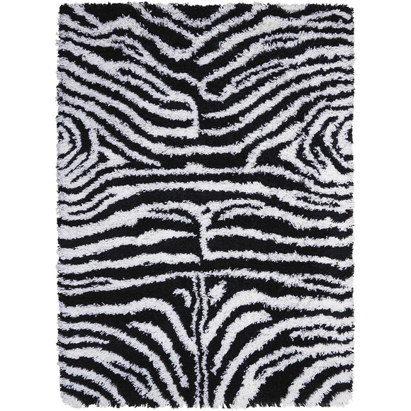 SPL17 Black-Shag-Area Rugs Weaver