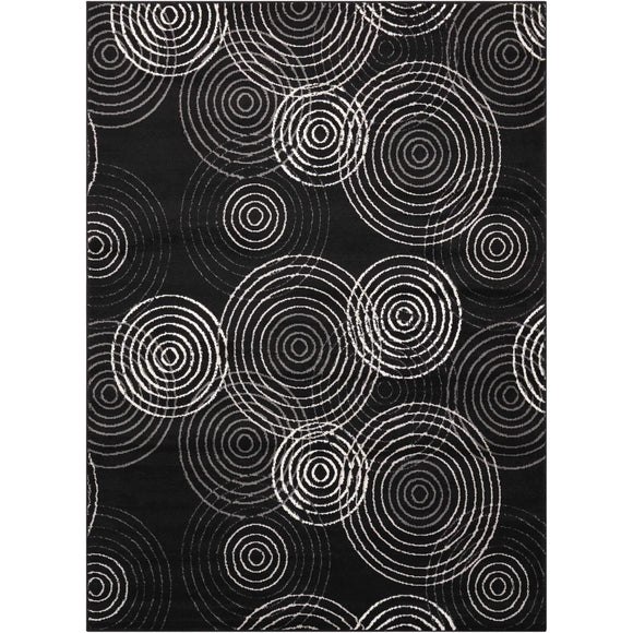 STU03 Black-Modern-Area Rugs Weaver