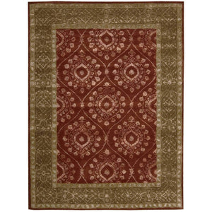 SYM06 Red-Traditional-Area Rugs Weaver