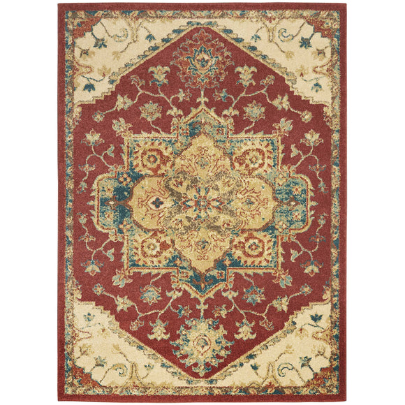TRQ01 Red-Vintage-Area Rugs Weaver