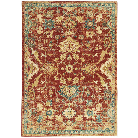 TRQ02 Red-Vintage-Area Rugs Weaver