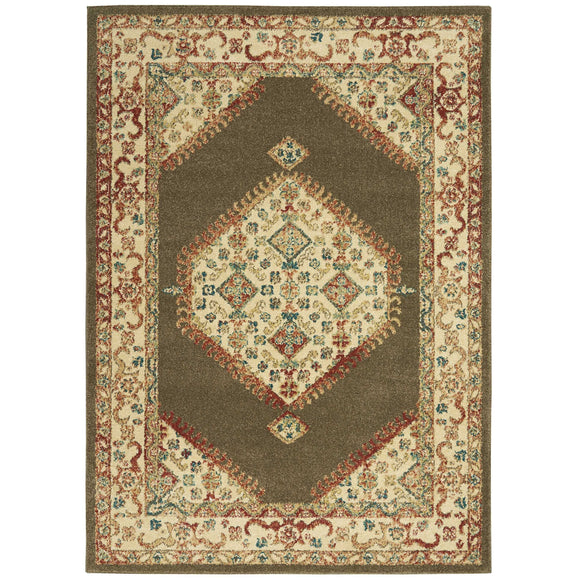 TRQ03 Brown-Vintage-Area Rugs Weaver