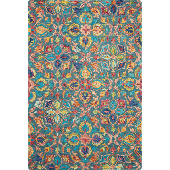 VIB08 Teal-Transitional-Area Rugs Weaver