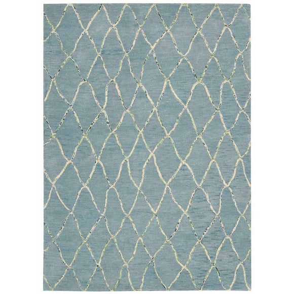INT02 Blue-Casual-Area Rugs Weaver