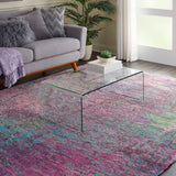 CRC02 Pink-Shag-Area Rugs Weaver