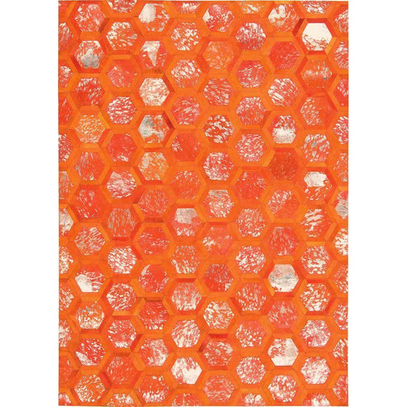 MA100 Orange-Modern-Area Rugs Weaver