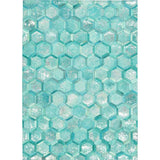 MA100 Turquoise-Modern-Area Rugs Weaver