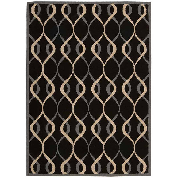 DER04 Black-Casual-Area Rugs Weaver