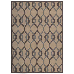 DER04 Taupe-Casual-Area Rugs Weaver