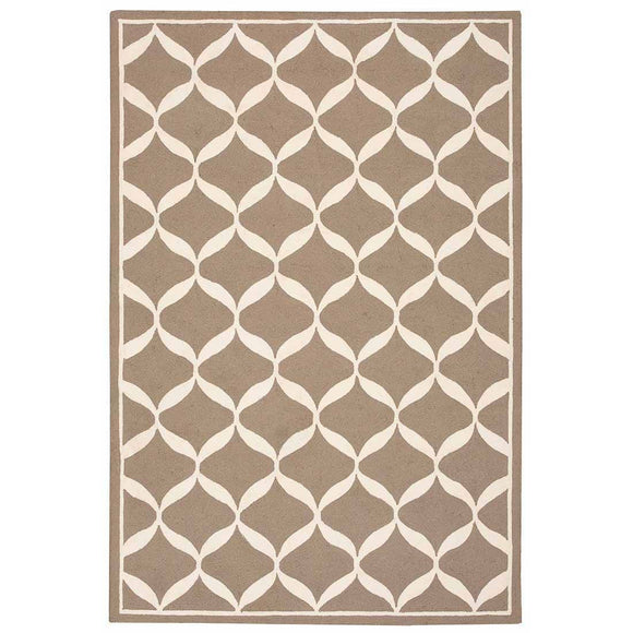 DER06 Taupe-Casual-Area Rugs Weaver