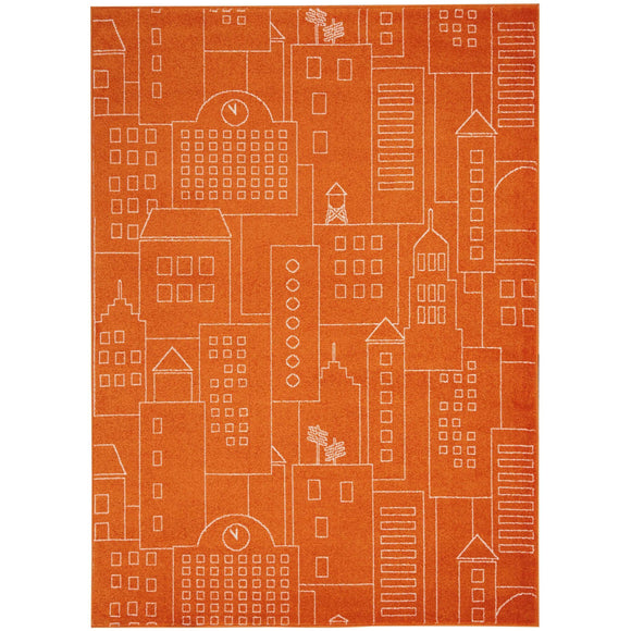 DS202 Orange-Kids-Area Rugs Weaver