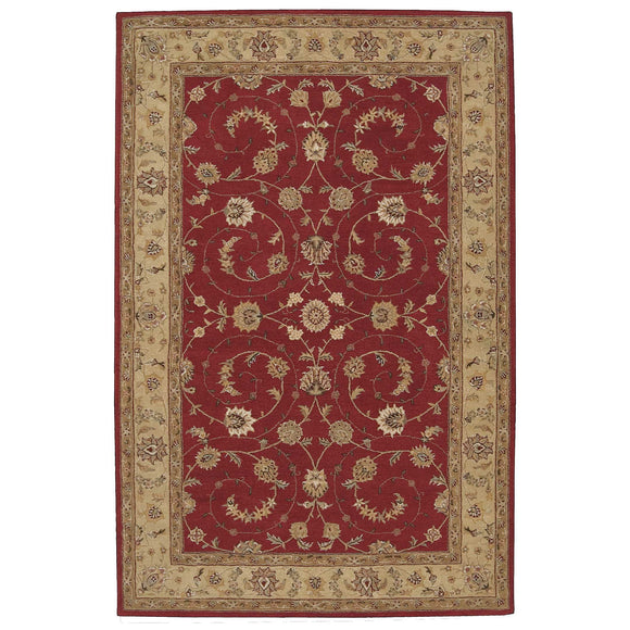 HE04 Red-Traditional-Area Rugs Weaver