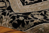 HE29 Black-Traditional-Area Rugs Weaver
