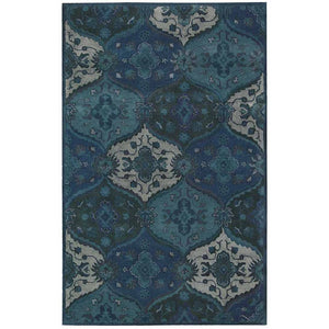 IH88 Blue-Traditional-Area Rugs Weaver