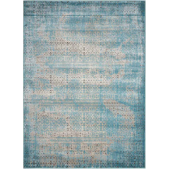 KRM01 Blue-Vintage-Area Rugs Weaver