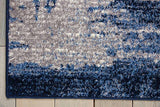 KI242 Blue-Modern-Area Rugs Weaver