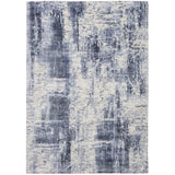 KI372 Blue-Modern-Area Rugs Weaver