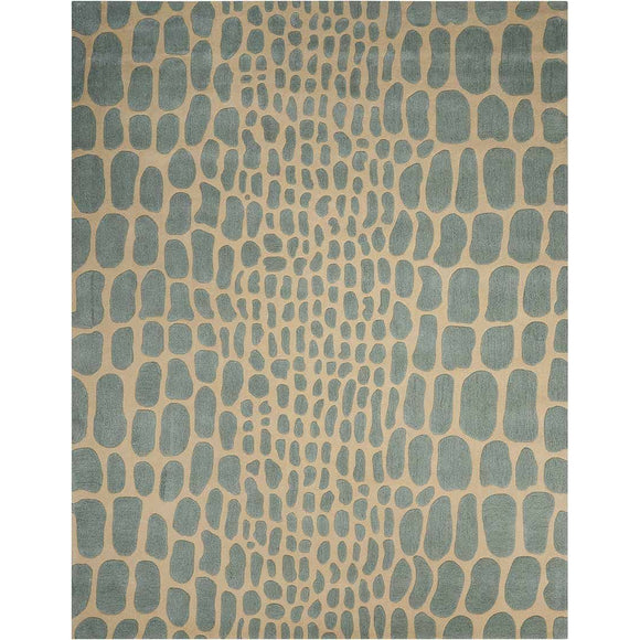 MA403 Aqua-Animal Print-Area Rugs Weaver